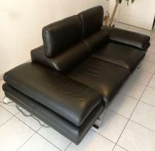 Canapé Design Cuir Noir