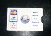 PORTE CARTE CREDIT COUPE DU MONDE DE FOOTBALL 1998.