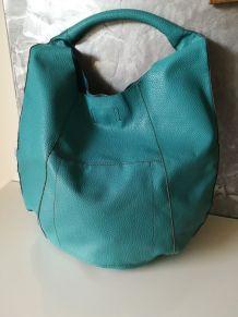 Grand sac à main turquoise