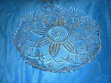 Grand plat 32 cm Cristal d'Arques Vincennes
