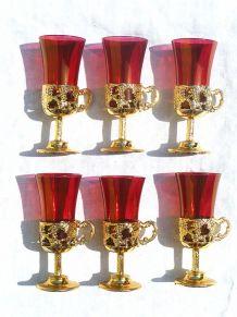 lot de 6 verres vintages