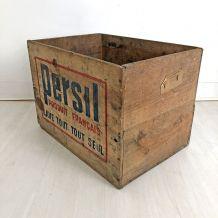 Caisse en bois PERSIL vintage 50's