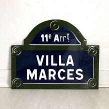 Plaque émaillée Villa Marques vintage 60's