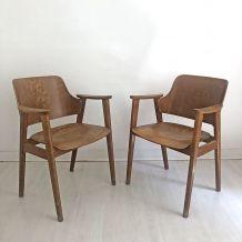Paire de fauteuils de bureau vintage 60's