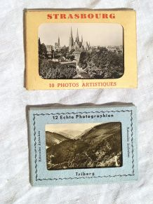 lot  de  2 mini album photo , ancien