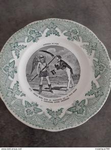 assiette Creil Montereau - Histoire de rire N°8