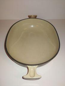 "Grand plat Le Creuset ""Mama"" ovale n°25 - terroir (1973)"