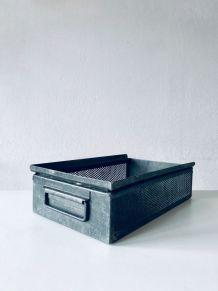 Caisse industrielle, ancien tiroir de meuble industriel en m
