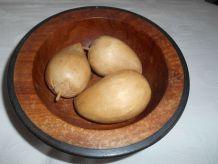 Coupelle en Bois  avec poires en bois