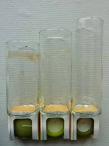 Trois vases bougeoirs 'Copenhague'