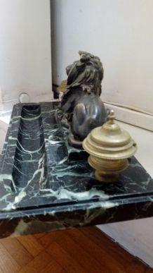 Encrier Marbre et bronze 19ème