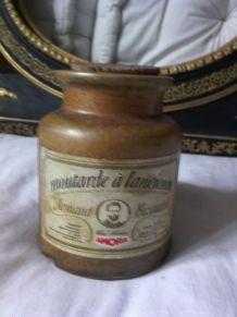 Ancien pot à moutarde Dijon Bizouard en céramique