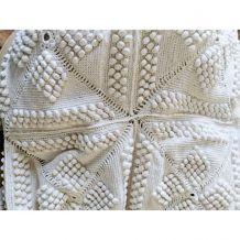 2 dessus de lit, crochet,1 place, coton, 1970.Envoi à voir