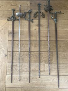 Ancien fleurets épées lot 6