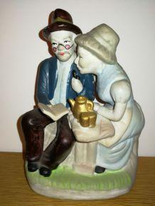 """Figurine """"couple de vieux"""" Vintage"""