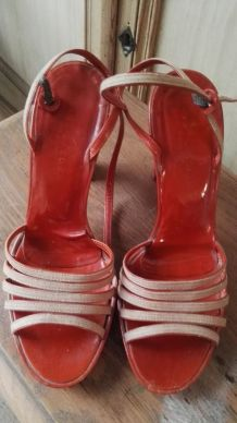 Sandales cuir verni, Marc Jacobs, 37,5