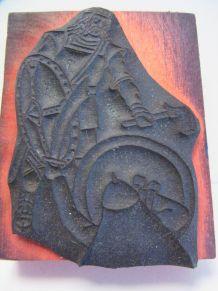 Tampon ancien école guerrier gaulois