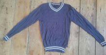 Pull coton bleu gris neuf jamais porté Best Mountain 16 ans