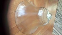 Grande cloche vintage en verre