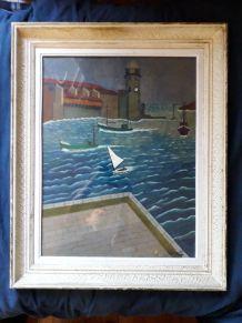 Peinture paysage de mer