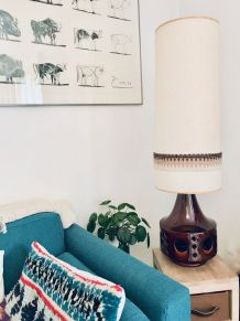 Immense lampe en céramique années 50