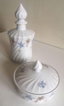 2 accessoires salle de bains porcelaine de Limoges