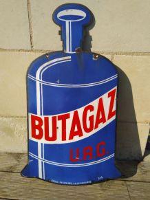 Plaque émaillée Butagaz urg