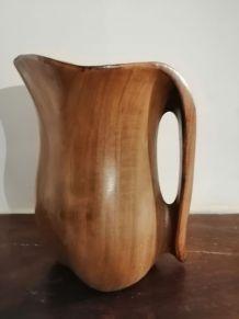 ancien pichet vase bois très bon état 16 cm