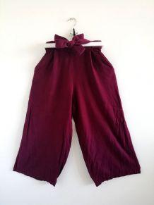Pantalon jambes larges bordeaux