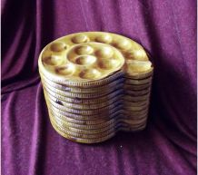 12 assiettes à escargots St Clément