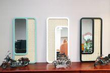 Miroir rectangle cannage inspiration Cesca