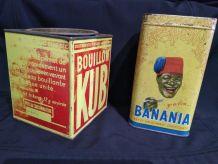 lot de 2 boites anciennes Kub / Banania