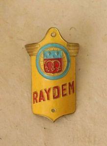 Ancienne plaque de vélo Raydem