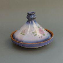 Plat à tajine en terre cuite Marocain décor floral