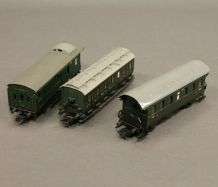 Marklin 3 wagons old timer 4002/3   4004/330-1/5 4003/1   ho