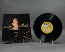 Le disque d'or de Dalida 80106M didque vinyle 33 tours