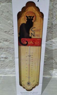 grand thermomètre neuf vintage chat noir
