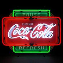 Enseigne lumineuse néon Coca-cola