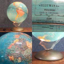 Globe terrestre Illumina années 1964