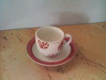 Tasse avec sous tasse