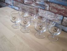 8 Verres a Cognac Napoléon, Vintage Français ,Cognac Brandy