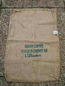 sac en jute , café des indes
