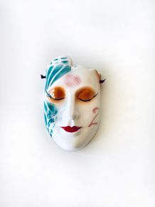 Masque mural décoratif, masque vénitien en céramique, vase m