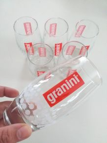 6 verres publicitaires design granini