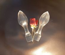 2 jolis bouchons de carafe en verre