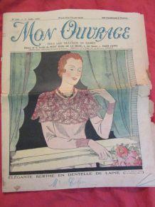 revue Mon ouvrage déco dentelle broderie 1932