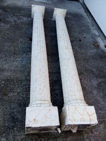 colonnes romaines en staff
