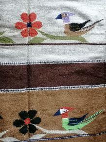 Tapis ethnique laine