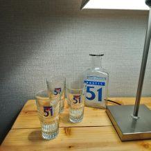 Carafe et 3 verres Pastis 51