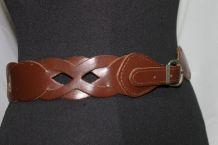 ceinture fantaisie en cuir marron vintage